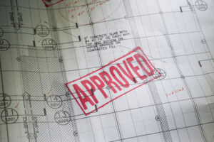 Planning Blueprint with APPROVED stamp - Shared Ownership boosting the housing market